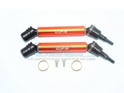 STEEL+ALUMINIUM FRONT/REAR CVD DRIVE SHAFT Orange -6PC SET