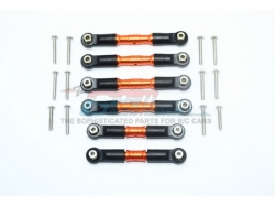 STAINLESS STEEL ADJUSTABLE TIE RODS Orange -18PC SET