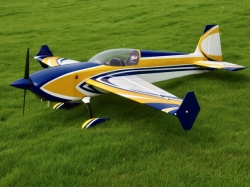 """Skywing Extra 300 V2 89"""" Gelb/Blau/Weiss 2.26m ARF"""