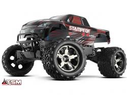 Traxxas Stampede 4x4 VXL TSM Schwarz ARTR Monsterruck 1:10