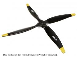 Fiala 4-Blatt 28x16 Elektro E3 Holzpropeller - schwarz Pus..