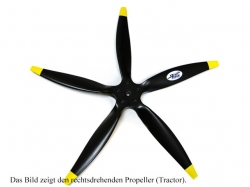 Fiala 5-Blatt 25x16 Elektro E3 Holzpropeller - schwarz Pus..