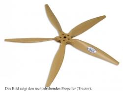 Fiala 5-Blatt 27x8 Elektro E3 Holzpropeller - natur Pusher..