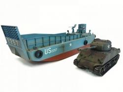 Set Landungsboot LCM3 und Panzer Sherman M4A3 Profi-Editio..