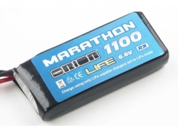 Marathon LiFe Standard RX Pack 1100mAh 30C 6.6V UNI-Plug