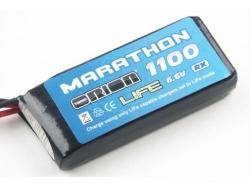 Marathon LiFe Standard RX Pack 1100mAh 30C 6.6V BEC-Plug