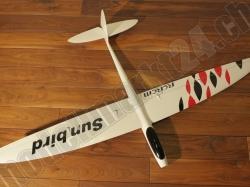 RCRCM E-Sunbird Spw.1,52m GFK Weiss/Rot&Schwarz inkl. Schu..