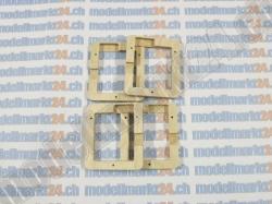 4Stk. Servorahmen aus Sperrholz zu KST DS125MG / KST DS225MG