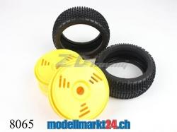 ZDRacing 8065 Kompletträder 2xHi 2xVo zu Buggy 1:8
