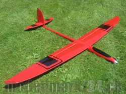 PnP RCRCM E-Hornet Spw. 2,0m CFK(Carbon) Rot/Schwarz