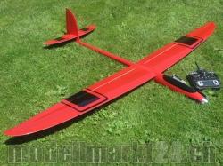 RTF RCRCM E-Hornet Spw. 2,0m CFK(Carbon) Rot/Schwarz