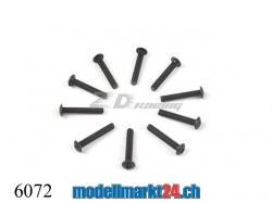 ZDRacing 6072 Linsenkopfschraube M3x18mm 10Stk