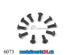 ZDRacing 6073 Linsenkopfschraube M3x8mm 10Stk