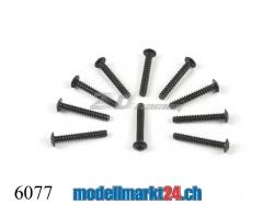 ZDRacing 6077 Linsenkopfschraube M2.6x18mm selbstschneiden..