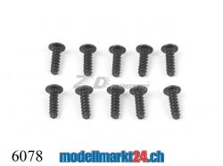 ZDRacing 6078 Linsenkopfschraube M2.6x8mm selbstschneidend..
