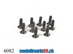 ZDRacing 6082 Senkkopfschraube M2.6x8mm selbstschneidend 1..