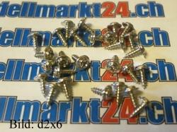 Blechschraube d2.3x10 mit Linsenkopf und Scheibe 20Stk.