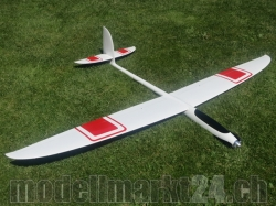 PnP RCRCM E-Hornet Spw. 2,0m CFK(Carbon) Weiss/Rot Comfort