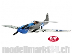 E-Flite P-51D Mustang 280 BNF Basic Spw.650mm