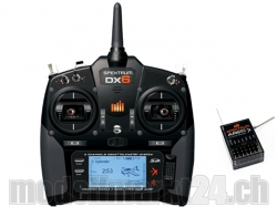 Spektrum DX6 V2 Super6 DSMX 6-Kanal 2.4GHz Sender Mode2/Em..