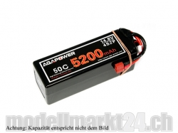 AGA-Power LiPo-Akku 5400mAh 14,8V 50C 4S2P Hard Case