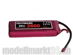 AGA-Power LiPo-Akku 2600mAh 7,4V 25C 2S1P
