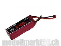 AGA-Power LiPo-Akku 3300mAh 7,4V 25C 2S1P