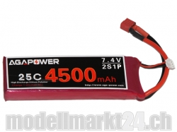 AGA-Power LiPo-Akku 4500mAh 7,4V 25C 2S1P