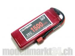 AGA-Power LiPo-Akku 1500mAh 11,1V 25C 3S1P
