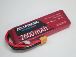 AGA-Power LiPo-Akku 2600mAh 11,1V 25C 3S1P
