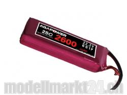 AGA-Power LiPo-Akku 2600mAh 22,2V 25C 6S1P