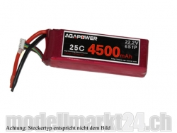 AGA-Power LiPo-Akku 4500mAh 22,2V 25C 6S1P