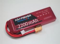 AGA-Power LiPo-Akku 2200mAh 7,4V 30C 2S1P
