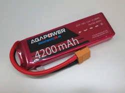 AGA-Power LiPo-Akku 4200mAh 7,4V 30C 2S1P