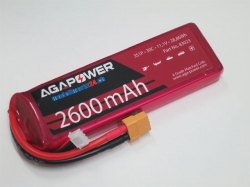 AGA-Power LiPo-Akku 2600mAh 11,1V 30C 3S1P