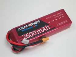AGA-Power LiPo-Akku 2600mAh 14,8V 30C 4S1P