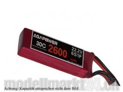 AGA-Power LiPo-Akku 2200mAh 22,2V 30C 6S1P