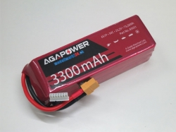 AGA-Power LiPo-Akku 3300mAh 22,2V 30C 6S1P