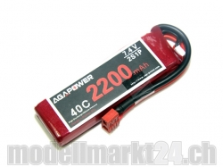AGA-Power LiPo-Akku 2200mAh 7,4V 40C 2S1P