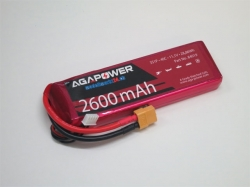 AGA-Power LiPo-Akku 2600mAh 11,1V 40C 3S1P
