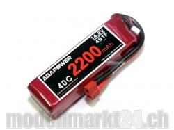 AGA-Power LiPo-Akku 2200mAh 14,8V 40C 4S1P