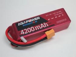 AGA-Power LiPo-Akku 4200mAh 14,8V 40C 4S1P