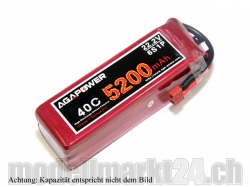 AGA-Power LiPo-Akku 6200mAh 22,2V 40C 6S1P