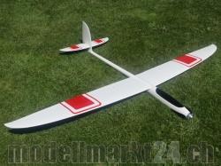 "PnP RCRCM E-Hornet Spw. 2,0m CFK(Carbon) Weiss/Rot ""Comfort"""