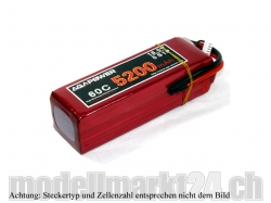 AGA-Power LiPo-Akku 5200mAh 11,1V 60C 3S1P