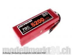 AGA-Power LiPo-Akku 5200mAh 22,2V 70C 6S1P