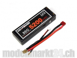 AGA-Power LiPo-Akku 5200mAh 7,4V 30C 2S1P Hard-Pack