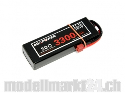 AGA-Power LiPo-Akku 3300mAh 11,1V 30C 3S1P Hard-Pack