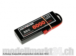 AGA-Power LiPo-Akku 6600mAh 7,4V 30C 2S2P Hard-Pack