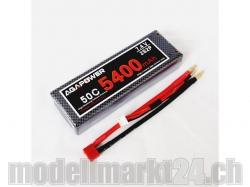 AGA-Power LiPo-Akku 5400mAh 7,4V 50C 2S2P Hard-Pack